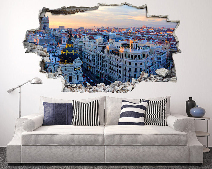 Cream City Buildings Living Room Decal Vinyl Wall Sticker I227