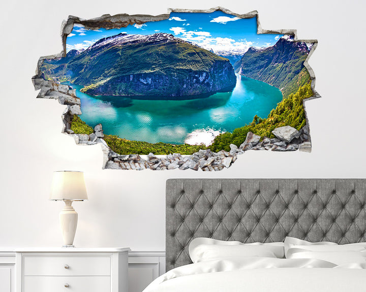 Mountain River Sunny Bedroom Decal Vinyl Wall Sticker I235