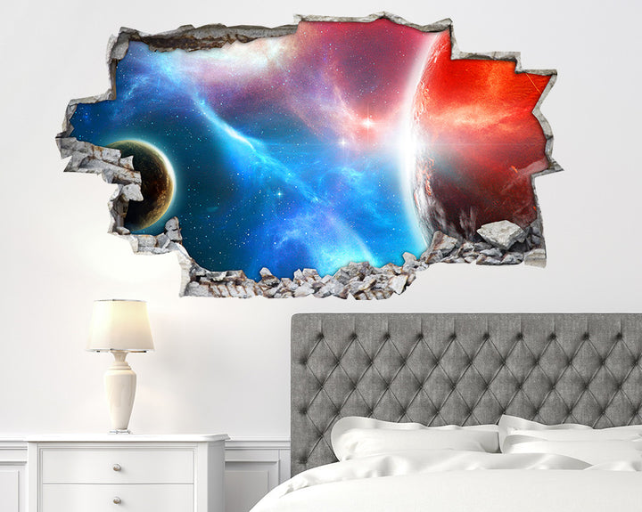 Space Planets Colours Bedroom Decal Vinyl Wall Sticker I241
