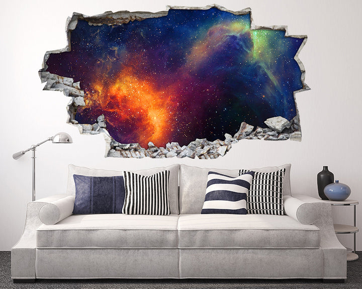 Space Colours Nebula Living Room Decal Vinyl Wall Sticker I242