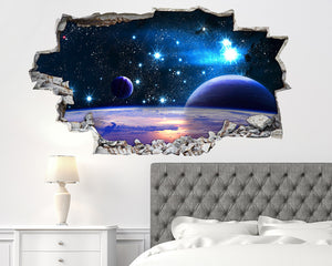 Glowing Stars Planets Bedroom Decal Vinyl Wall Sticker I243