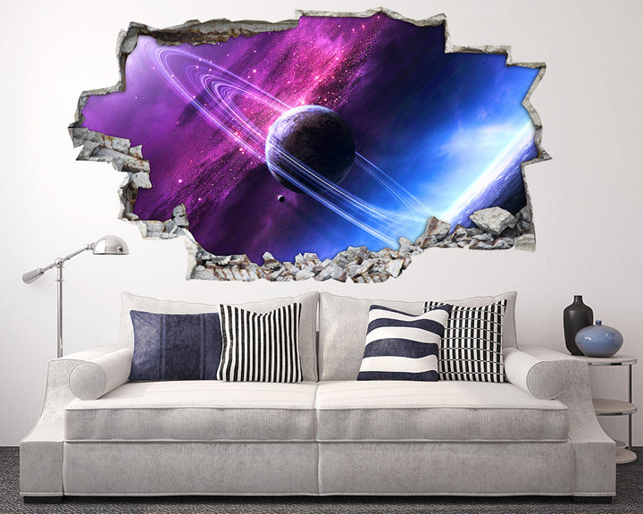 Space Planet Rings Living Room Decal Vinyl Wall Sticker I246