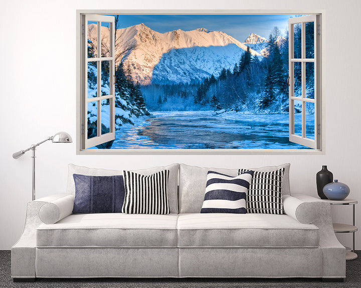 Snow Ice Lake Living Room Decal Vinyl Wall Sticker I257