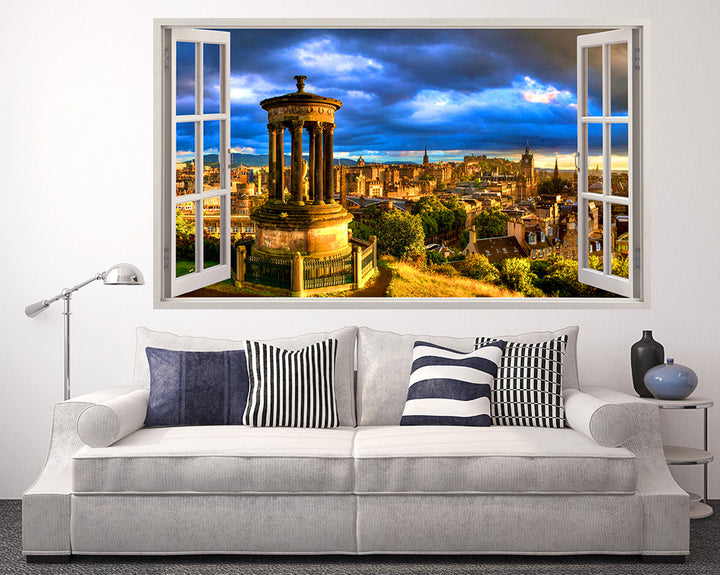 Golden City Buildings Living Room Decal Vinyl Wall Sticker I263