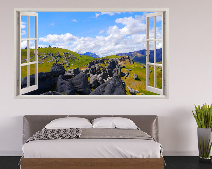 Mountain Ruins Bedroom Decal Vinyl Wall Sticker I269
