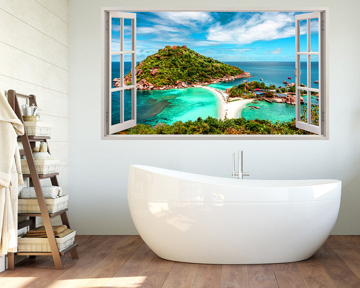 Holiday Island Beach Bathroom Decal Vinyl Wall Sticker I273