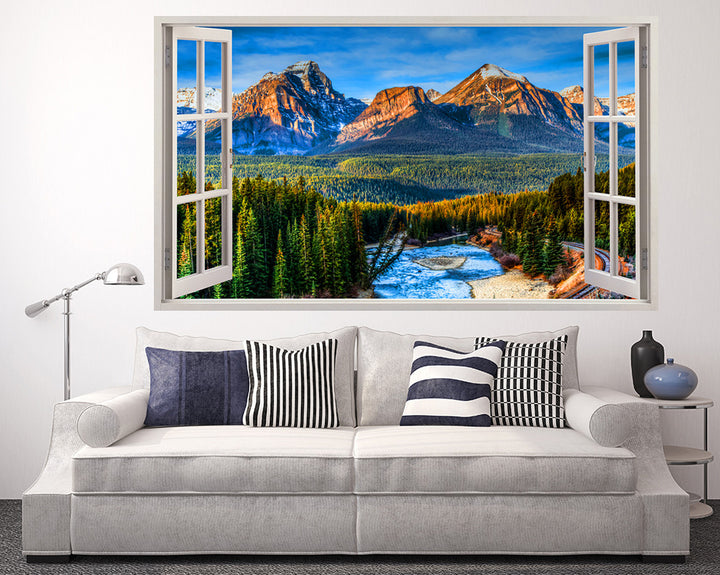 Mountain Forest Scenery Living Room Decal Vinyl Wall Sticker I276