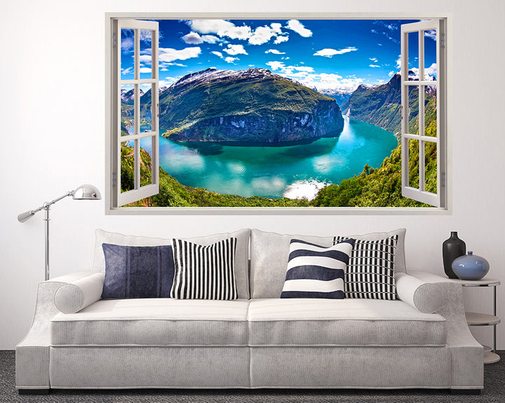 Mountain River Sunny Living Room Decal Vinyl Wall Sticker I287