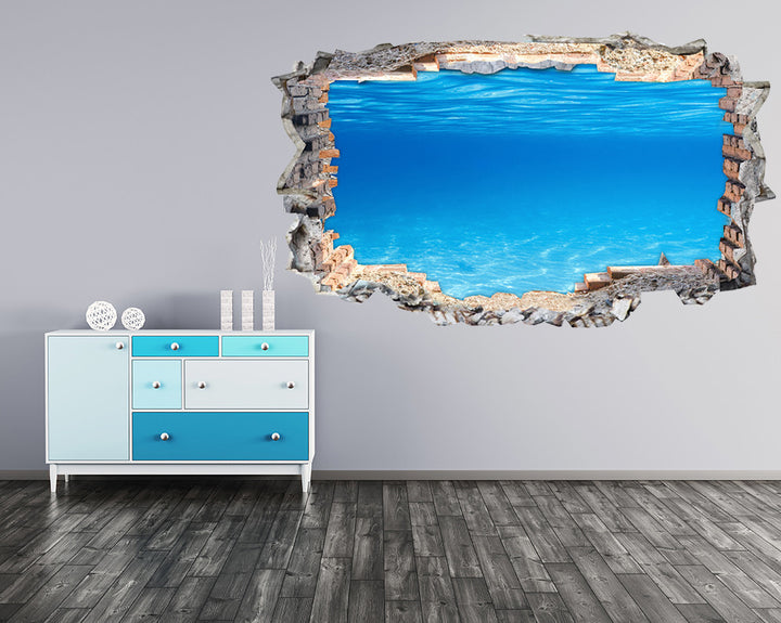 Blue Underwater Sea Hall Decal Vinyl Wall Sticker K007i