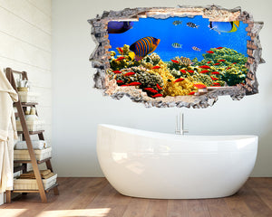 Coral Reef Fish Bathroom Decal Vinyl Wall Sticker K053i