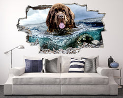Newfoundland Dog Water Living Room Decal Vinyl Wall Sticker M034