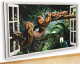 M120 Boa Jungle Snake Nature Boys Canvas Picture Poster Wall Art Stickers Room