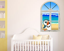 Puffin Rock Beach Nursery Decal Vinyl Wall Sticker M142