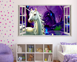 Magic Unicorn Lake Girls Bedroom Decal Vinyl Wall Sticker M513