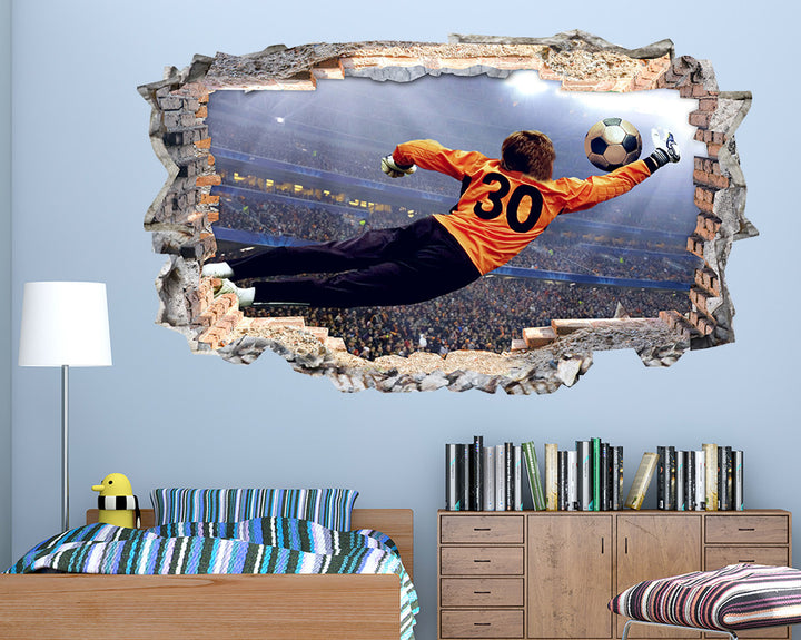 Football Goalkeeper Boys Bedroom Decal Vinyl Wall Sticker N261i