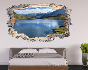 Mountains Lake Sun Bedroom Decal Vinyl Wall Sticker N400i