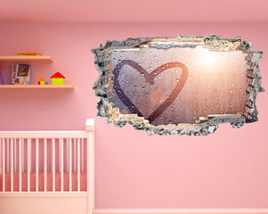 Raindrop Heart Nursery Decal Vinyl Wall Sticker N482i