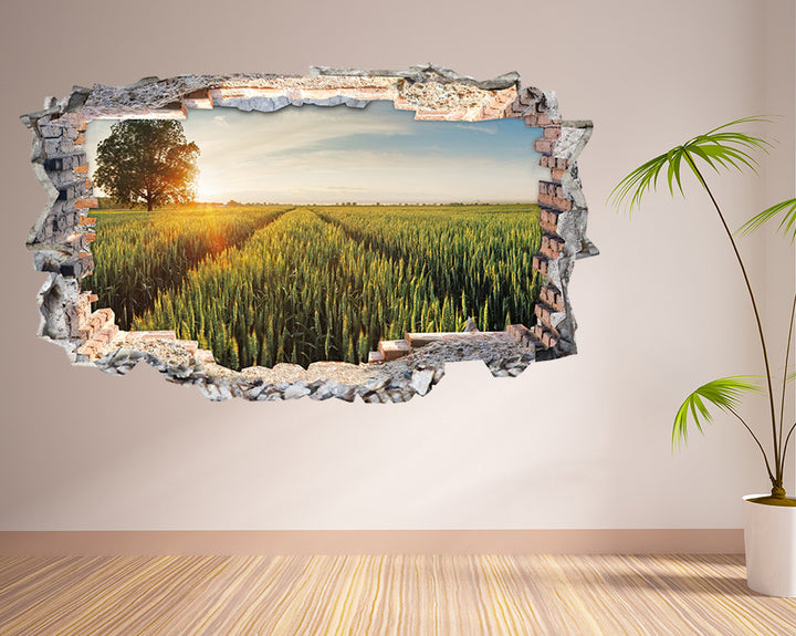 Nature Crop Field Hall Decal Vinyl Wall Sticker N484i