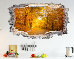 Autumn Forest Trees Kitchen Decal Vinyl Wall Sticker N835i