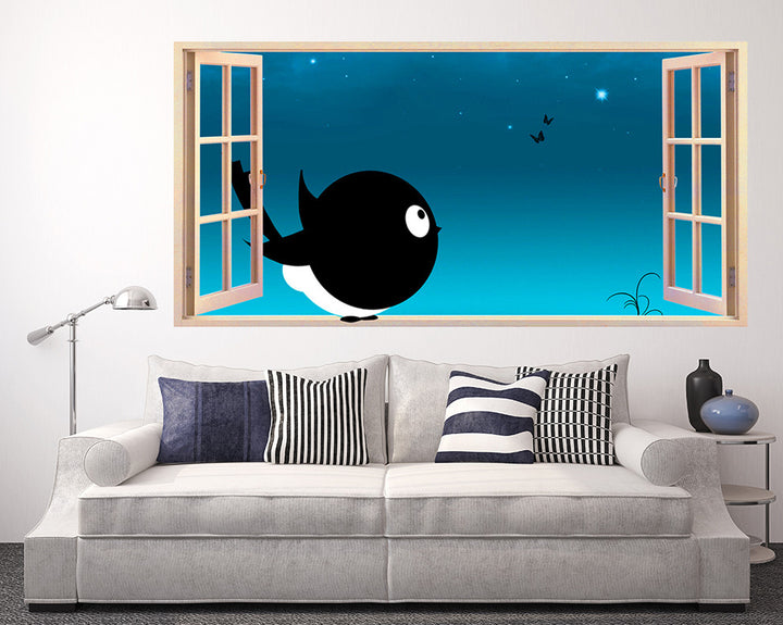 Cartoon Magpie Living Room Decal Vinyl Wall Sticker Q014