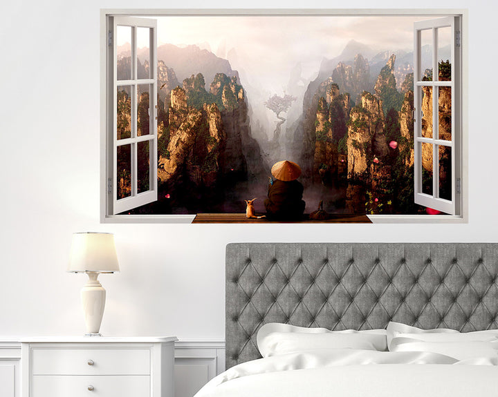 China Nature Bedroom Decal Vinyl Wall Sticker Q038