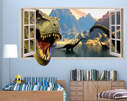 Dinosaur Head Boys Bedroom Decal Vinyl Wall Sticker Q047