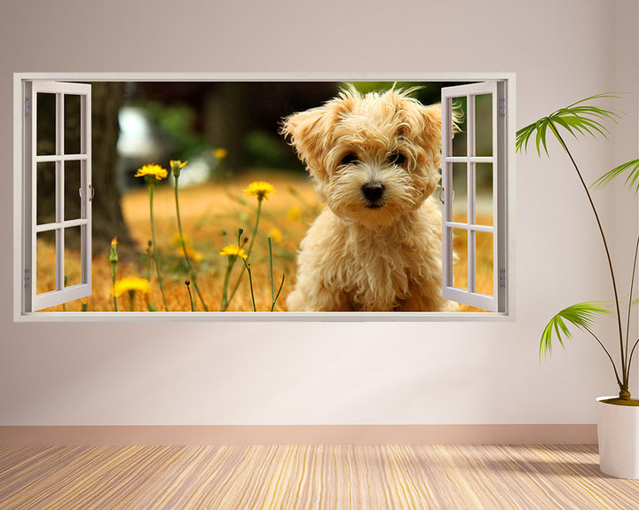 Pet Dog Living Room Decal Vinyl Wall Sticker Q050