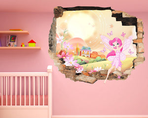 Fairy House Nursery Decal Vinyl Wall Sticker Q067
