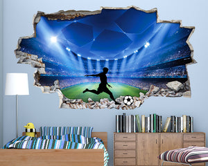 Football Stadium Boys Bedroom Decal Vinyl Wall Sticker Q075