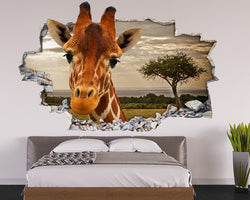 Safari Giraffe Bedroom Decal Vinyl Wall Sticker Q077