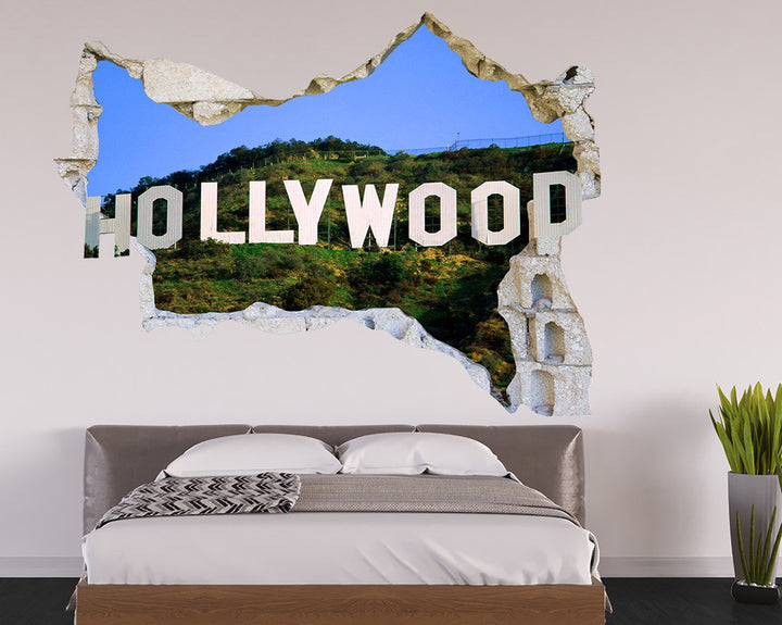 Hollywood Sign Bedroom Decal Vinyl Wall Sticker Q087