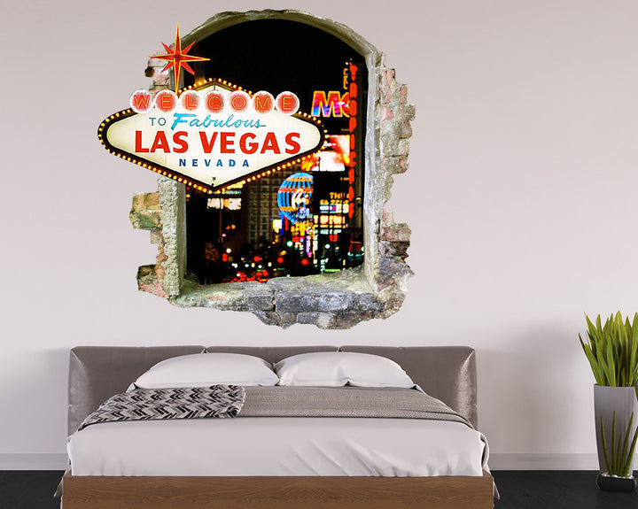 Las Vegas Sign Bedroom Decal Vinyl Wall Sticker Q102