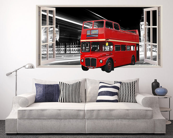 London Red Bus Living Room Decal Vinyl Wall Sticker Q109