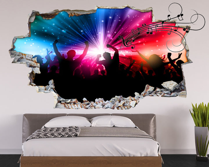 Music Concert Bedroom Decal Vinyl Wall Sticker Q121