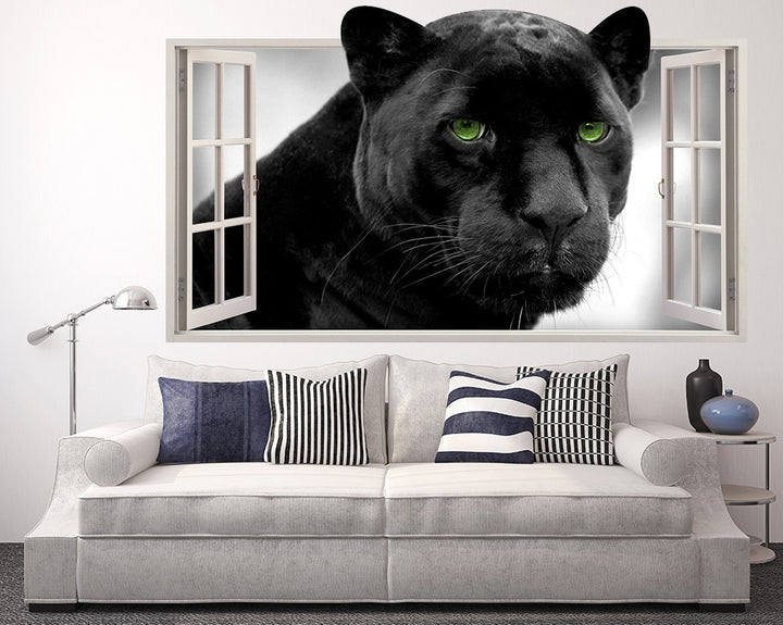 Black Panther Living Room Decal Vinyl Wall Sticker Q125