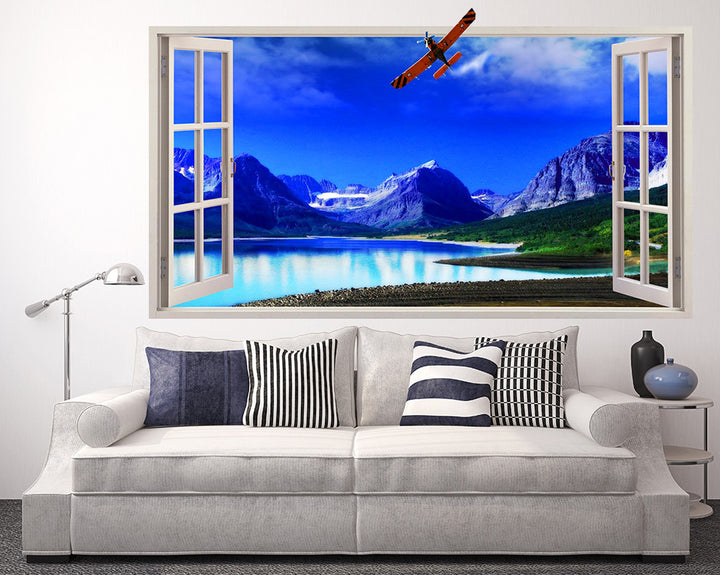Scenic Mountain Living Room Decal Vinyl Wall Sticker Q133