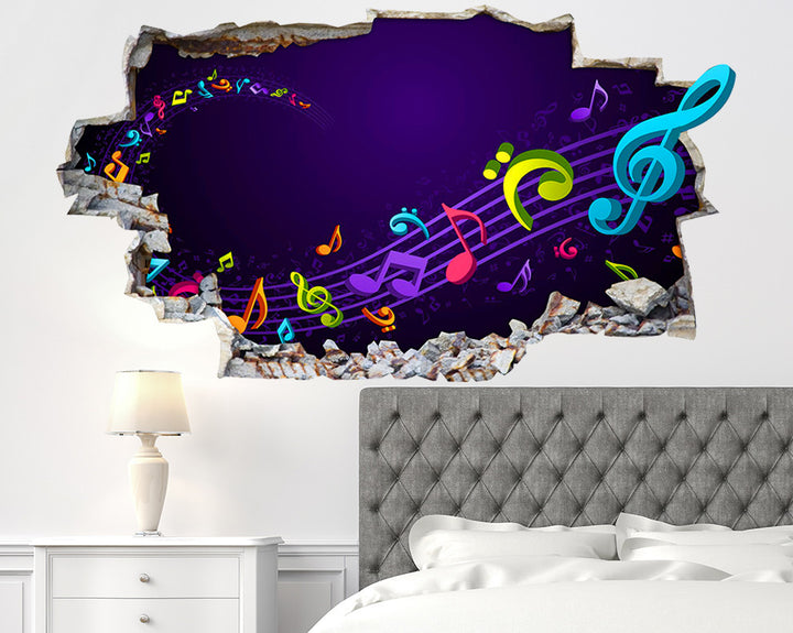 Music Notes Bedroom Decal Vinyl Wall Sticker Q140