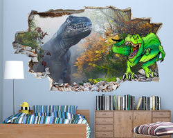 Green Dinosaur Boys Bedroom Decal Vinyl Wall Sticker Q167