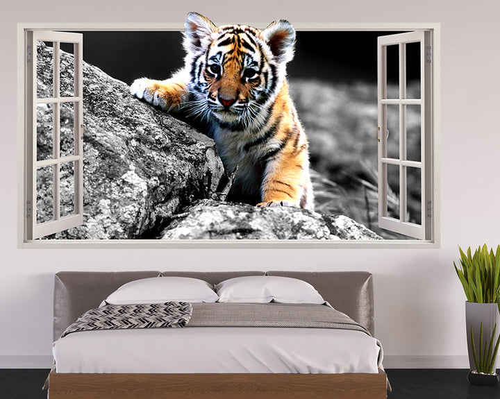 Tiger Cub Bedroom Decal Vinyl Wall Sticker Q168