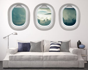Sky Clouds Living Room Decal Vinyl Wall Sticker Q185