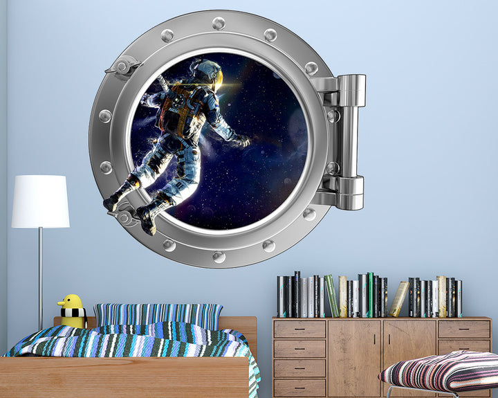 Spaceman Boys Bedroom Decal Vinyl Wall Sticker Q188