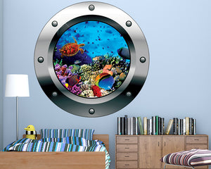 Fish Coral Reef Boys Bedroom Decal Vinyl Wall Sticker Q189