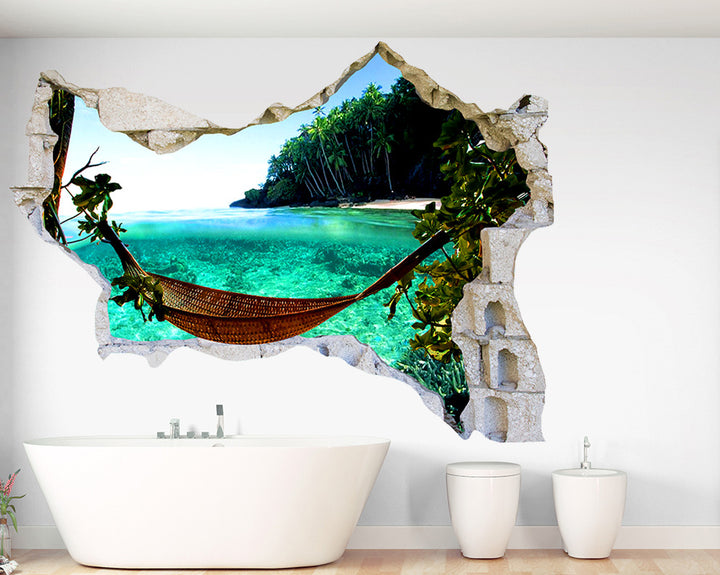 Relaxing Holiday Bathroom Decal Vinyl Wall Sticker Q197