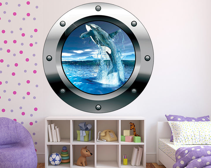Jumping Whale Girls Bedroom Decal Vinyl Wall Sticker Q206