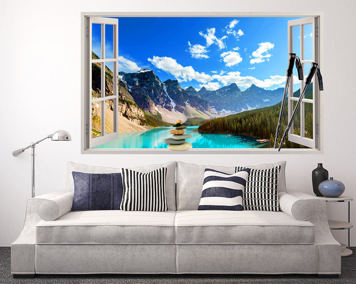 Canada Lake Living Room Decal Vinyl Wall Sticker Q214