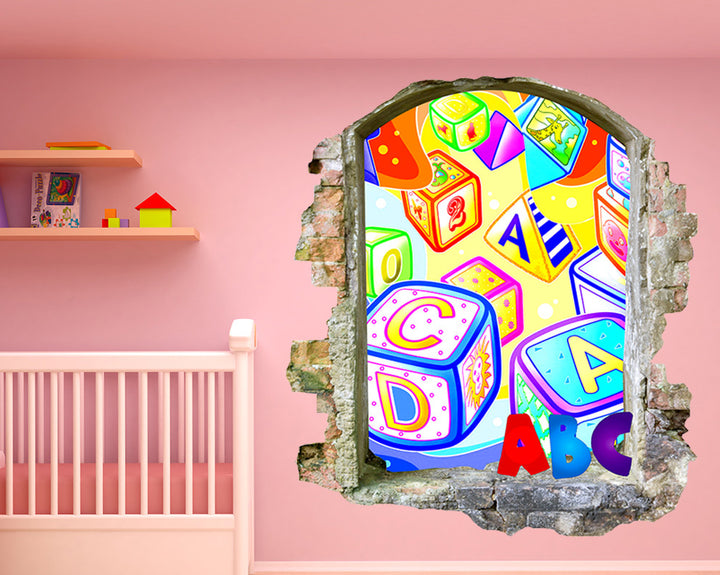 ABC Blocks Nursery Decal Vinyl Wall Sticker Q218