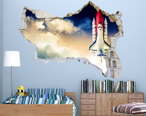 Space Rocket Boys Bedroom Decal Vinyl Wall Sticker Q252