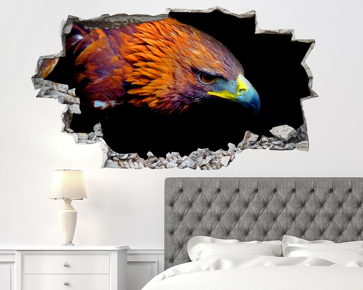 Eagle Head Bedroom Decal Vinyl Wall Sticker Q269