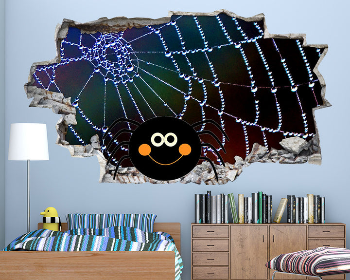 Cartoon Spider Boys Bedroom Decal Vinyl Wall Sticker Q270
