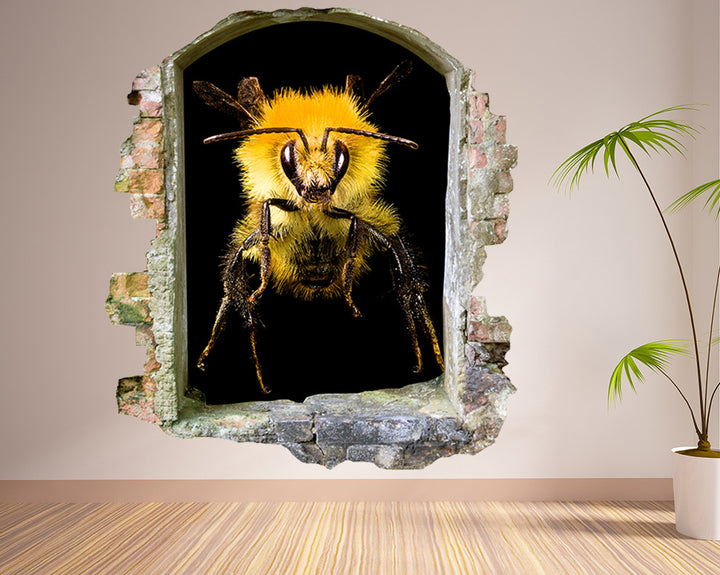 Bumble Bee Living Room Decal Vinyl Wall Sticker Q271